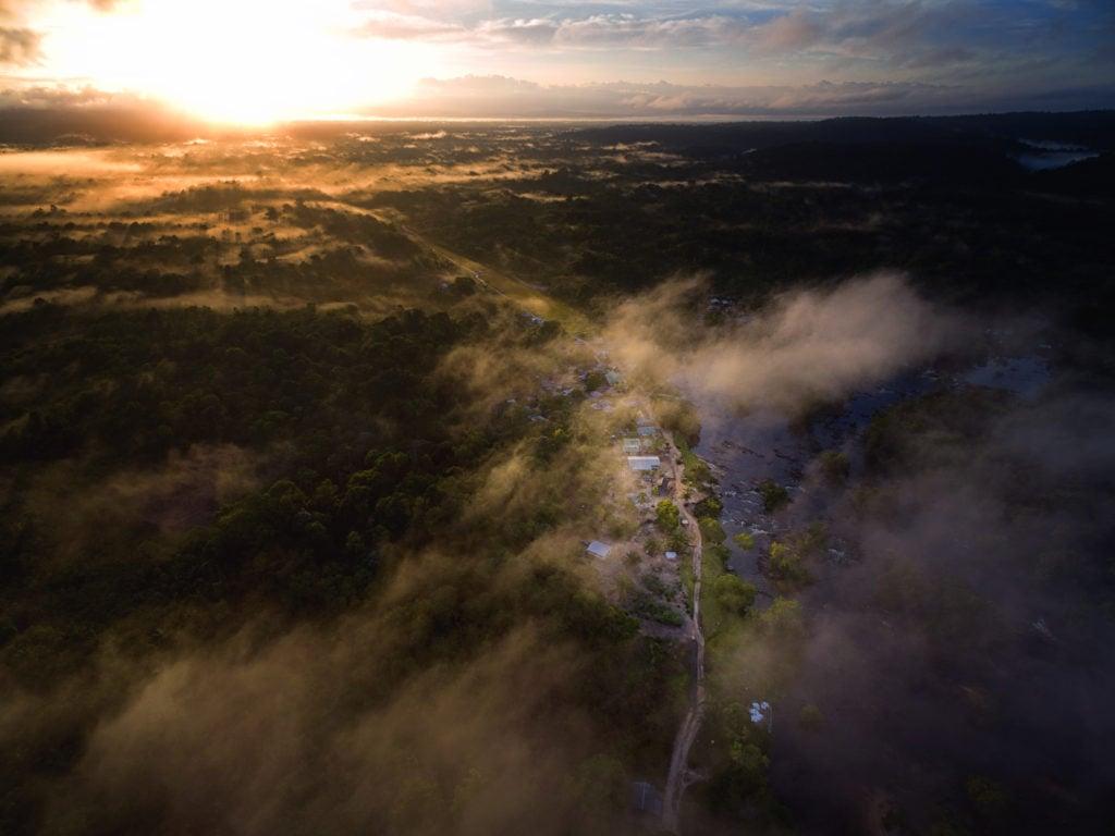 Morning view of Nieuw Jacobkondre, Upper Saramacca River. Photo Credit: MediaVision N.V.