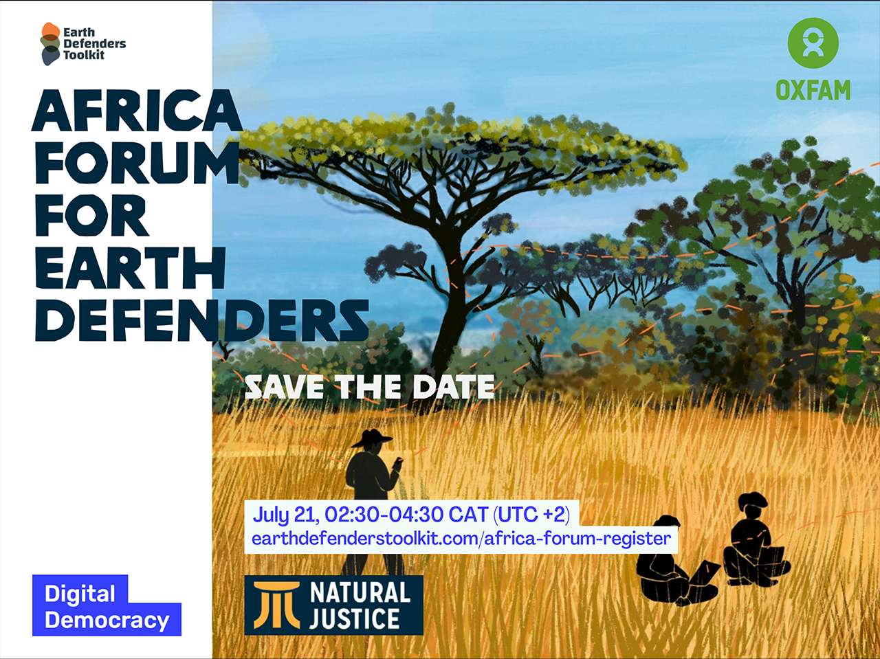 Africe forum for Earth Defenders July 21, 02:30-04:30 CAT